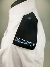 Pair Black Security Embroidered Button On Shirt Epaulets Epaulettes LBS3 B2