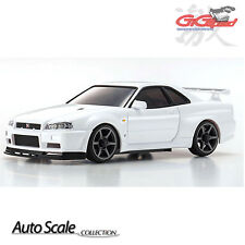 KYOSHO MINI Z Autoscale NISSAN SKYLINE R34 GTR V spec II Nur White ASC MZP427W
