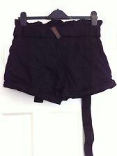 Women's Henley's 100% Cotton Black Shorts Size 8