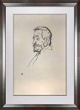"Egon SCHIELE Lithograph SIGNED Dated #'ed Lt. Ed.  ""Portrait Heinrich Benesche"""