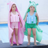 Hooded Poncho Beach Bath Swimming Cotton Towel Kids Children's Boys Girls