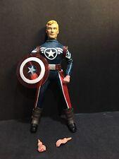 """Custom Marvel 8"""" Mego Secret Avengers Version of Captain America free shipping"""