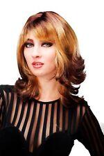 Sexy Qualitätsperücke Perücke Ombre Braun Blond gewellt Diva Star MARLI-YP4-273