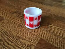 Vintage Fire King Anchor Hocking Red Checkered Pattern Milk Glass Mug Cup