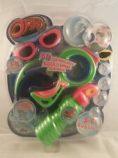 3-D Lightning Bubble Set 3-D glasses Dip and Blow Optrix Imperial New