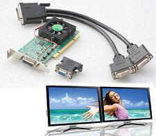 MATROX MILLENIUM P650 LOW-PROFILE PCI DUAL HEAD P65-MDDAP64F 2x DVI + 1x VGA G24
