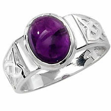 Anniversary Solitaire Oval Amethyst Fine Rings