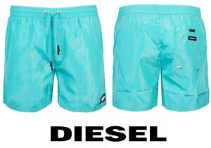 Diesel Mens Swimming Shorts Turquoise Swim Trunks Half Pants Brand New All Sizes