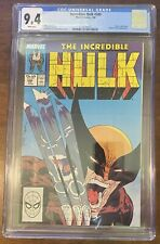 The Incredible Hulk #340 CGC 9.4 WP Classic Cover Hulk vs Wolverine 1988 Hot