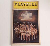 Playbill 1980 A Chorus Line Schubert Theatre Bebe Neuwirth Theater