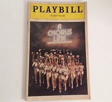 Playbill 1980 A Chorus Line Schubert Theatre Bebe Neuwirth Theater