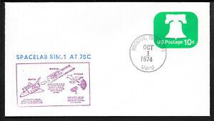 a080 RAUMFAHRT/ USA Entwicklung-Spacelab SIM.1 AT JSC Beleg aus 1974