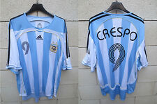 VINTAGE Maillot ARGENTINE ARGENTINA ADIDAS CRESPO shirt jersey WORLD CUP 2006 L