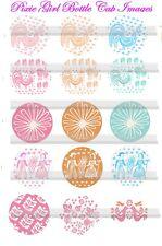 Pyrex Pattern Butterprint-Daisy-stems-Gooseberry15 Precut Bottle Cap Images