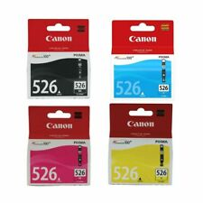 Genuine Canon CLI-526 BK / C / M / Y Ink Cartridges For Canon Pixma iP4850 Lot