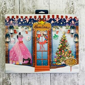 Hemline Sewing Christmas Advent Calendar 2021 with contents.