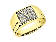 2.00Ct Round Cut Mens Wedding Band Ring 14K Yellow Gold GH I1 Prong Setting