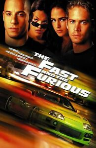 Fast and The Furious Movie Poster - Vin Diesel Poster Paul Walker Wall Decor