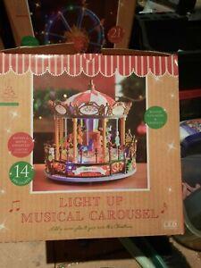 Light Up Musical Carousel Christmas Decoration