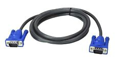 5FT 15 PIN BLUE SVGA VGA ADAPTER Monitor M/M Male To Male Cable CORD FOR PC TV