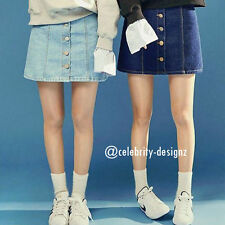 Above Knee Denim Regular Size Skirts for Women