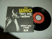 """THE WHO / LET'S SEE ACTION - WHEN I WAS A BOY (1971) 7"""" SP classic rock !!!!"""