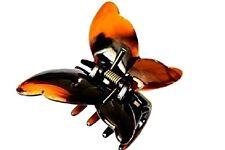 A Beautiful motif papillon marron couleur ou tort Pince à Cheveux Griffe Bulldog
