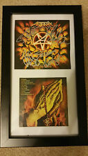 ANTHRAX Worship Music SIGNED AUTOGRAPHED FRAMED CD DISPLAY #A