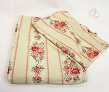 Twin Bedspread Duvet Sage Green Red Sham Floral Bed Set Single Cotton Coverlet