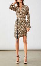 Nili Lotan Leora Beige & Black Paisley Dress Size 8 - NWT $750