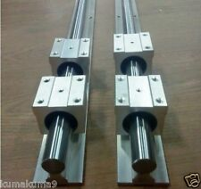 SBR20-1600mm 20MM LINEAR SLIDE GUIDE SHAFT 2 RAIL+4SBR20UU Bearing Block CNC set