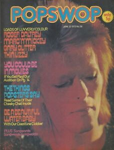 POPSWOP # 38 (1973) David Bowie Gary Glitter Marc Bolan Roger Daltrey Thin Lizzy