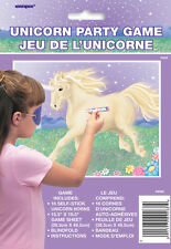 Unicorn Party Game just like Pin the tail on the donkey retro party childs game