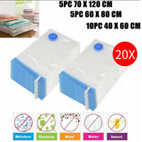 20Pack Vacuum Storage Bags For Clothes Blankets Compressed Pack Bag Space Saving