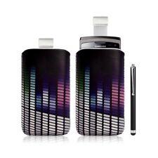 Housse coque étui pochette pour Samsung Wave 3 avec motif + stylet luxe