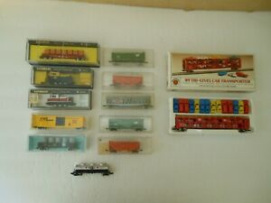 N Scale Train Car & Locomotive Lot Of (12) - Locomotive Switchers (2) - Tested