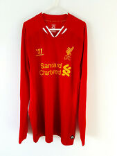 Liverpool Home Shirt 2013. XL. Warrior Red Adults Long Sleeves Football Top Only