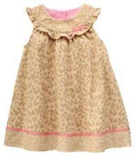 Gymboree SMART KITTIES Dress / Jumper Ruffle Leopard Corduroy Pink Tan 18-24 NWT