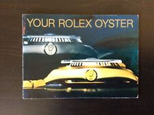 Rolex Oyster Instruction Manual Booklet Vintage Authentic