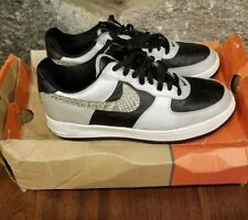 "2001 Nike Air Force 1 B Low ""3M Snake"" 105 Skin Black Silver CO.JP Japan supreme"