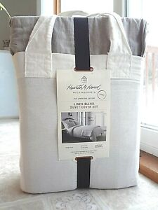 Hearth & Hand with Magnolia (KING) Linen Blend Duvet Cover Set - Free Shipping