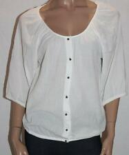 suzannegrae Designer White Button Front C Cloth Blouse Top Size 10-S BNWT #sY21