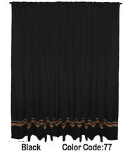 Saaria Velvet Curtain Panel With Gold Stripe Home Decor Stage Drape 12'W x 10'H