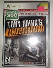 Tony Hawk's Underground (Microsoft Xbox, 2003) BRAND NEW