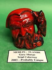 Flambe Doulton Miniature Merlin Flambe Charcter Jug Toby - Museum auction