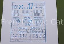 Ancien tampon scolaire métal mathématique calcul chiffre 17 compter 19*14 AA068
