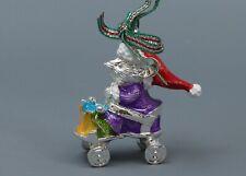Newbridge Silverware Mouse In Cart Holiday Tree Ornament w/Out Originl Box