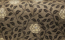 150x400cm (1.5x4m) Quality Solid Brown Floral Patterned Carpet Remnants Roll End