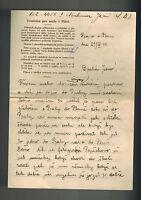 1941 Pizni Bohemia Moravia Gestapo Prison Letter Cover Jan Neubaur