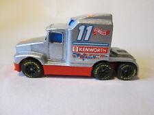 Hot Wheels 76 Big Rig Kenworth Racing Cab Truck (1988 Mattel Silver) Mint